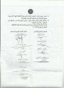 Geçici Yönetim Mutabakat İmzaları