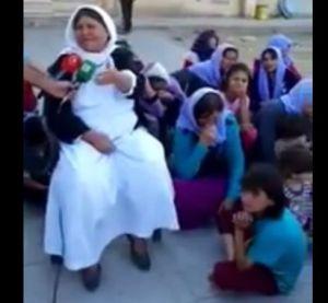 Dayika Êzîdî piştî giheştina Rojava