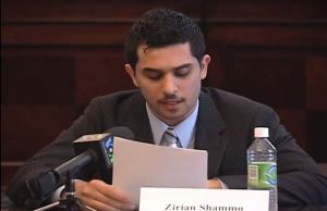 Zirian Shammo speaking in US Congress