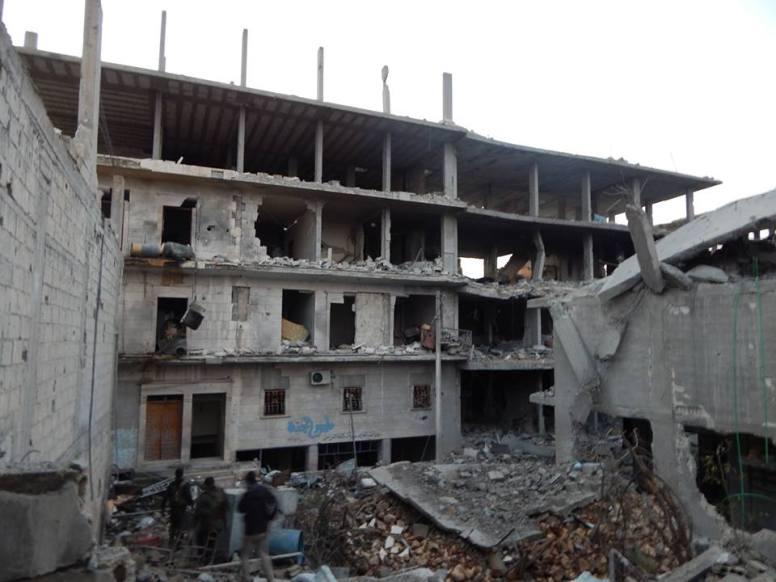 Kobanê'nin uğradığı yıkımı gözler önüne seren bir kare  Foto: Mislim Nabo