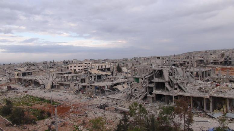 Horrifying destruction of Kobane (Photo Mahmoud Bali)