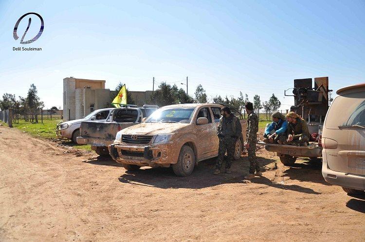 Hêzên YPG li nêzîkî bajarokê Til Hemîs